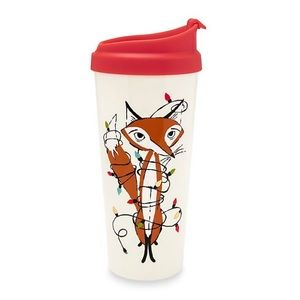 NWT Kate Spade Festive Fox travel mug, 16 oz